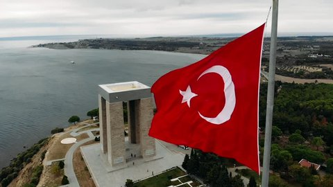 The Çanakkale Martyrs' Memorial is a war memorial commemorating the service of about 253,000 Turkish soldiers who participated at the Battle of Gallipoli.