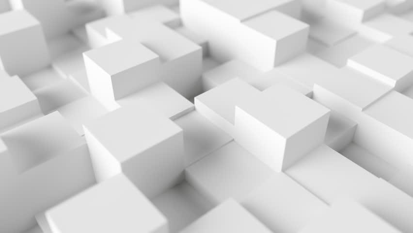 Cube Geometric Surface Loop background, clean minimal squares grid pattern, random waving motion background pearl white. Seamless loop 4K UHD FullHD. | Shutterstock HD Video #1020873508