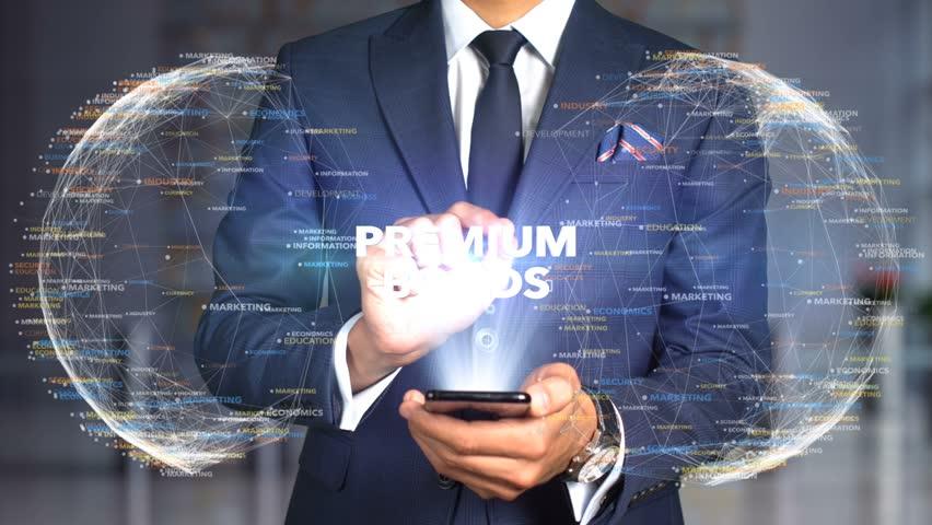 Businessman Hologram Concept Tech - PREMIUM BONDS   Shutterstock HD Video #1020894598