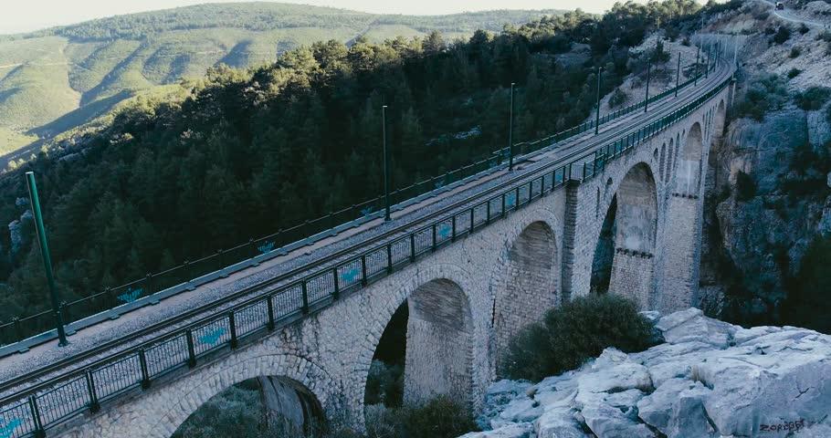 Aerial view of the train in  Adana - Turkey | Shutterstock HD Video #1020911188