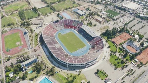 Santiago, Region Metropolitana / Chile - December 13 2018: Chile national soccer stadium looked from the air