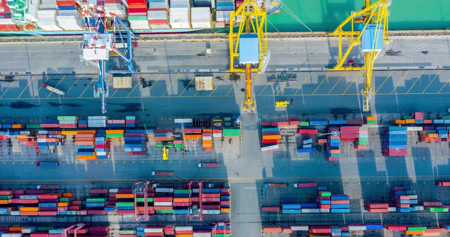 Aerial Time Lapse - Naval Cargo Operations | Shutterstock HD Video #1021049398