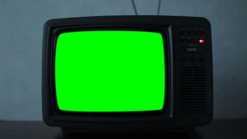 Old 80s Television Green Screen. Night Watch | Shutterstock HD Video #1021217968