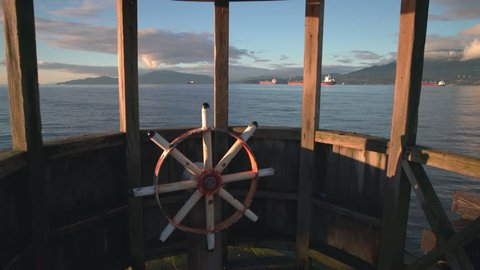 Jericho Pier Wheelhouse, Vancouver, BC 4K. UHD. A dolly shot in the play wheelhouse on Jericho Pier. 4K. UHD.