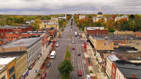 Over Rochester Street Traffic Downtown Canandaigua New York