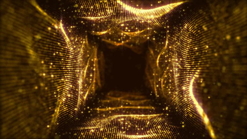 VJ Fractal gold Light Tunnel. Seamless loop | Shutterstock HD Video #1021854298