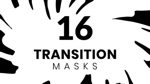 16 ink transition masks for business presentation. Cartoon style. Animated liquid shape.