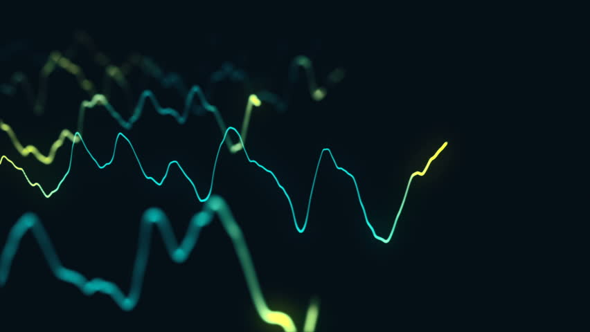 Animation growth of abstract charts with changing values of check points on dark background. Animation of seamless loop.   Shutterstock HD Video #1022110228