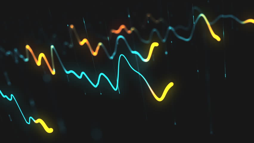 Animation growth of abstract charts with changing values of check points on dark background. Animation of seamless loop. | Shutterstock HD Video #1022110288