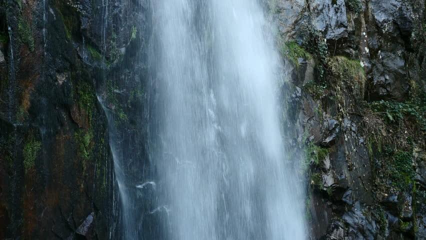 waterfall detail Augacaída, Orense, Spain. Filmed on January 5, 2019. #1022135248