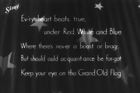 CIRCA 1946 - An ode to Uncle Sam is performed, with accompanying lyrics and illustrations.