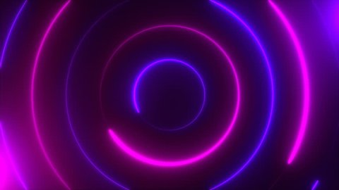 Abstract spiral neon circles, computer generated background, 3D rendering background