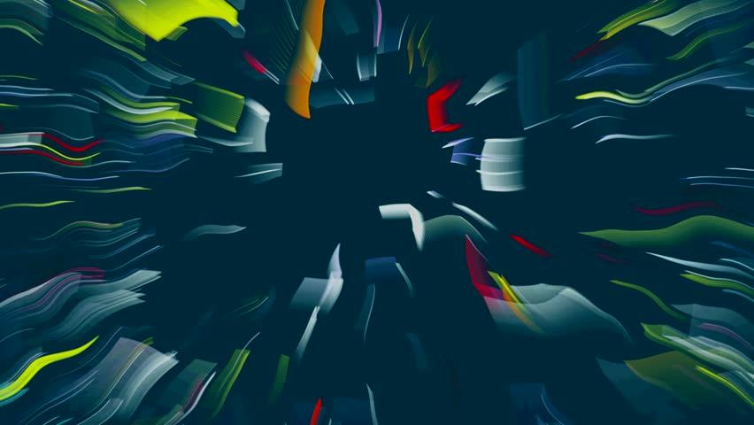 Dance of geometric shapes on the screen | Shutterstock HD Video #1022261488