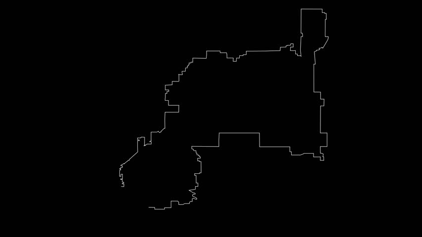 Henderson Nevada city map outline animation | Shutterstock HD Video #1022362888
