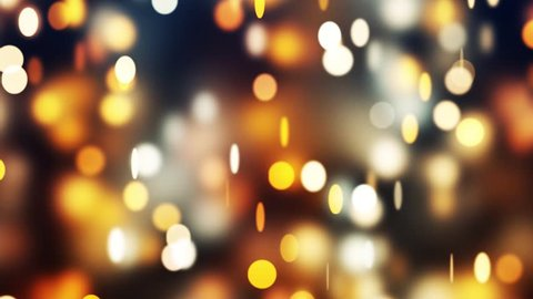 Golden abstract background. ambient abstract bokeh particles background.Seamless loop. More colors available. 4k animation.