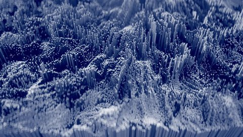 4K Abstract Topographic Waveform. 3D CGI Animation. Seamless Loop.
