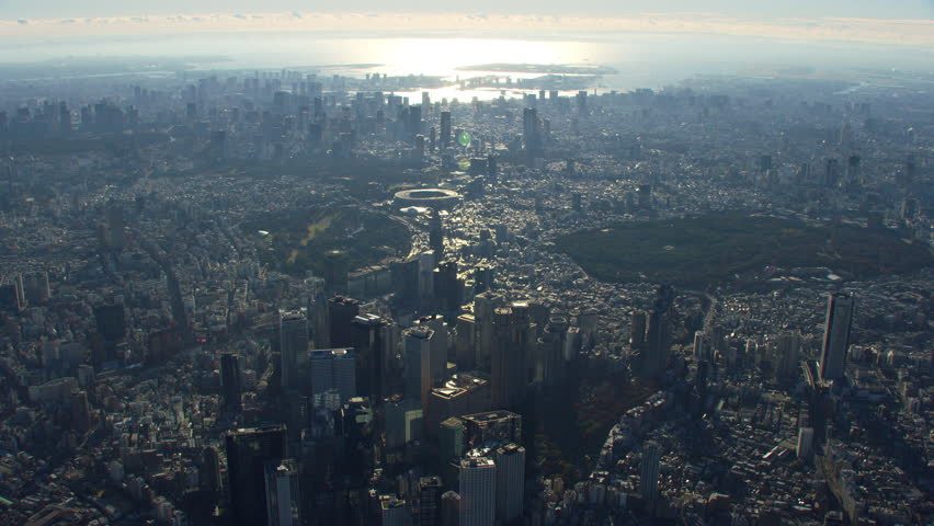 Tokyo, Japan circa-2018. High altitude aerial view of Tokyo. Shot from helicopter with RED camera. | Shutterstock HD Video #1022610178