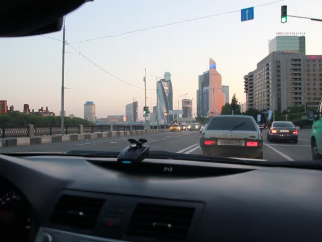 Moscow/Russia - June 04, 2014: driving by the Moskva-city Moscow city in car | Shutterstock HD Video #1022688628