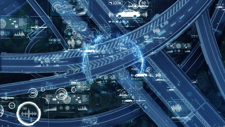 Technology of transportation concept. | Shutterstock HD Video #1022745928