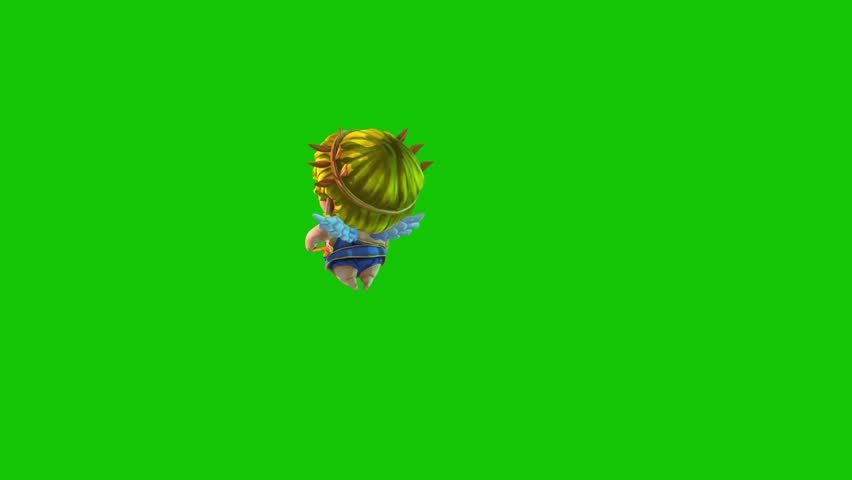 Cupid Happy Valentine's day Flies Side Green Screen 3D Rendering Animation | Shutterstock HD Video #1022820388