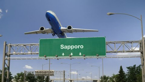 Airplane Take off Sapporo