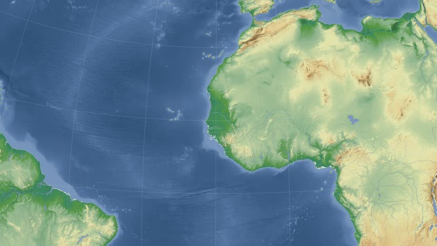 Niger Shape Animated On The Physical Map Of The Globe Stock Footage