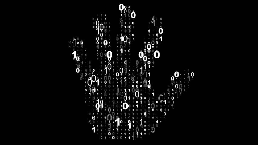 Digital Handprint Binary Code Forms Stock Footage Video 100 Royalty Free 1022986228 Shutterstock