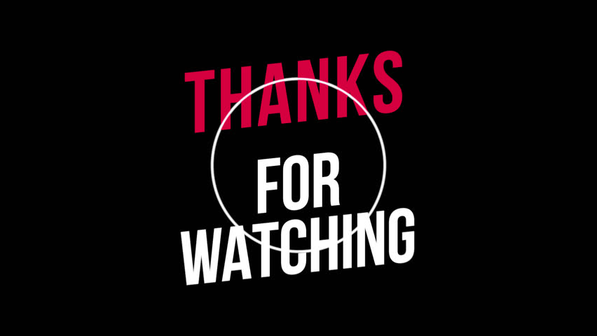 Thanks For Watching Text Animation, with Black, Green and Transparent Background. Motion Graphics with Alpha Channel. Just Drop It into Your Project. | Shutterstock HD Video #1023008428