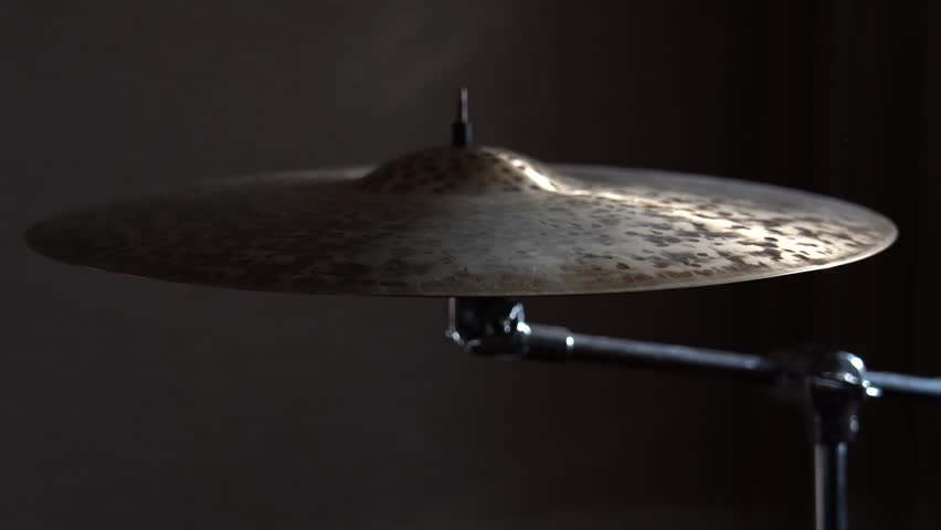Cymbal On Stand, slow motion