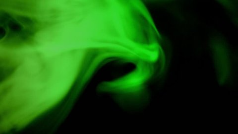 green smoke patterns connection at dark background