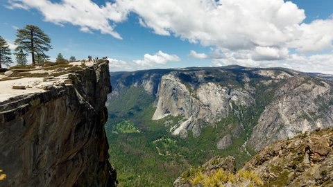 Taft Point at Yosemite National Park. El Capitan is in the background.