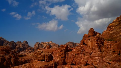 Time lapse Movie Wadi rum Desert in Jordan, It is also known as the Valley of the Moon, Many Movie Shot in Wadi Rum