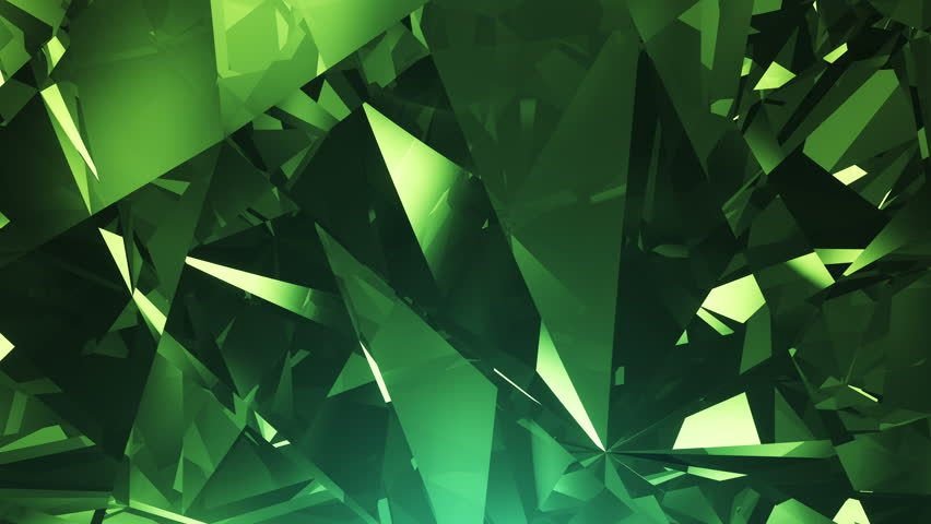 Stock Video Clip Of Abstract Green 4k Diamond Seamlessly