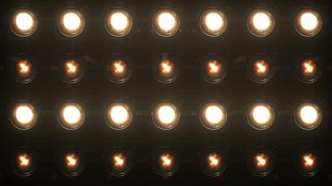 Floodlight Lights Flashing Wall VJ Stage  4K Blinder Blinking Lights Flash Club Flashlights Disco Lights Matrix Beam Lights Bulb Halogen Headlamp Lamp Nightclub Turn Off On Loop