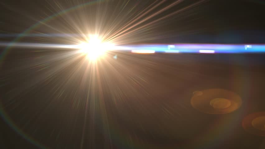 Beautiful light leak lens flare