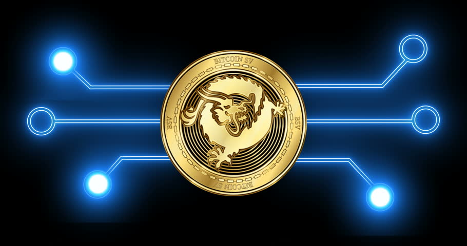 Bitcoin Sv (bsv) Cryptocurrency Gold Stock Footage Video (100%  Royalty-free) 1024001618 | Shutterstock