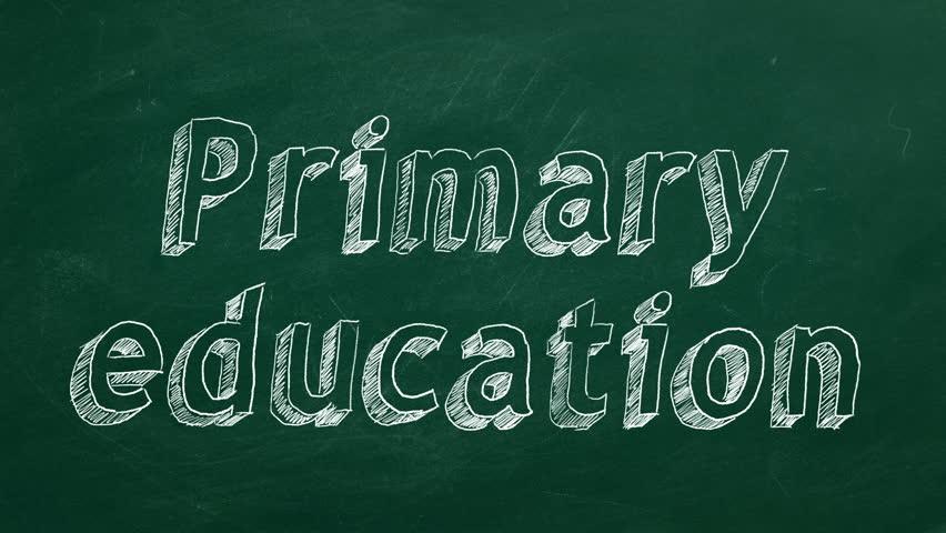 "Hand drawing ""Primary education"" on green chalkboard | Shutterstock HD Video #1024040948"