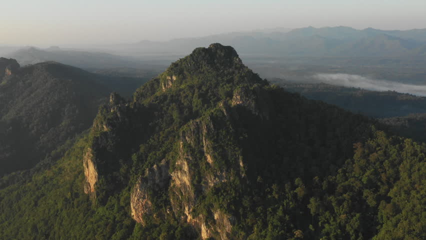 Fly over Mountain aerial view scene, 4k video #1024068008
