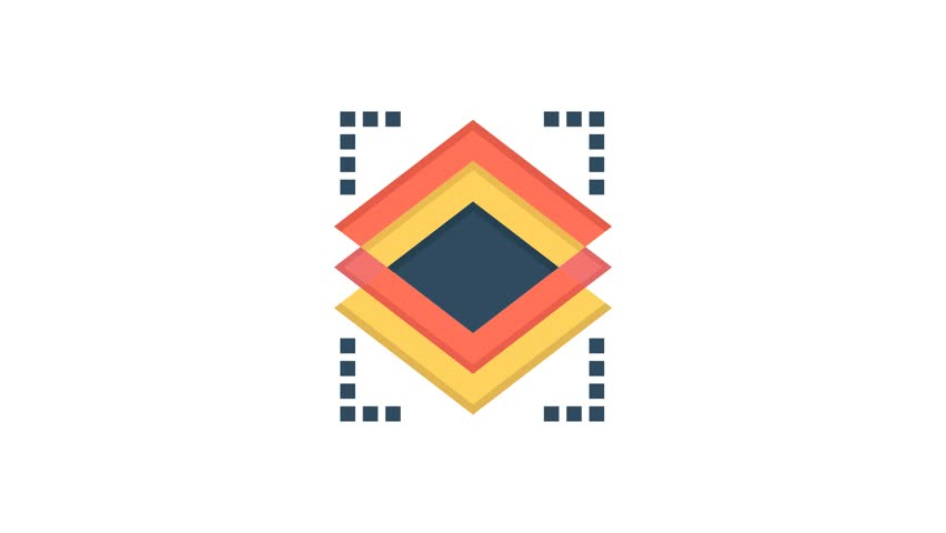 Layers, Object, Layer Line Icon Motion Graphic Animation | Shutterstock HD Video #1024090958
