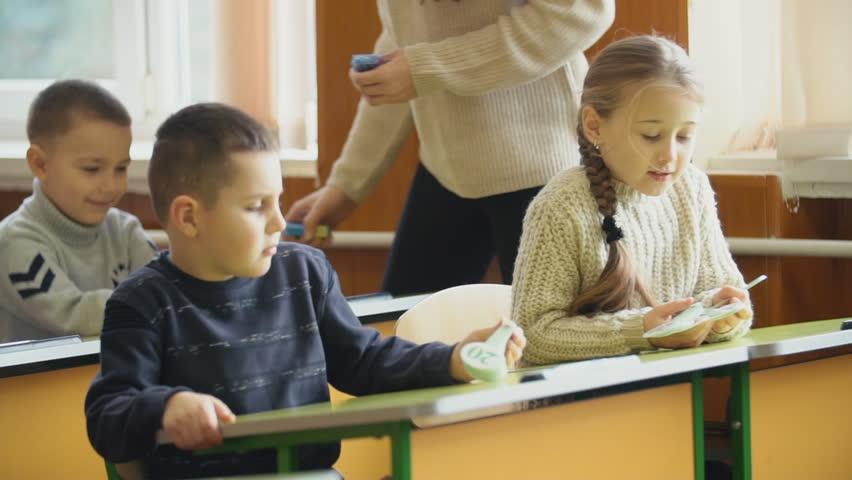 Children go on recess | Shutterstock HD Video #1024119668