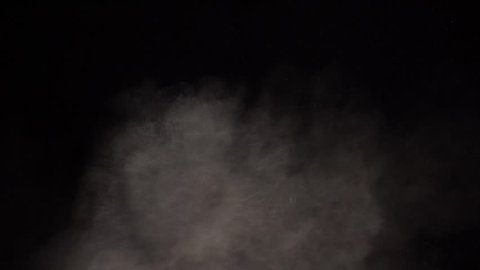 Animation slow motion powder explosions abstract smoke dust
