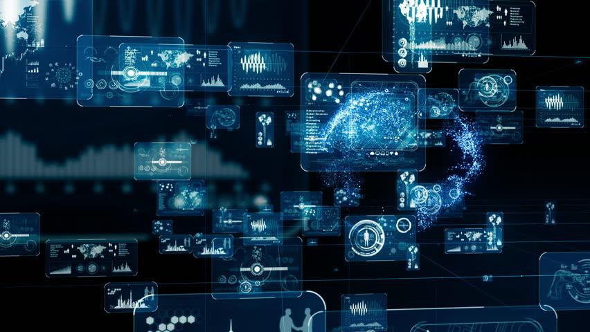 Futuristic GUI (Graphical User Interface) concept. | Shutterstock HD Video #1024802888