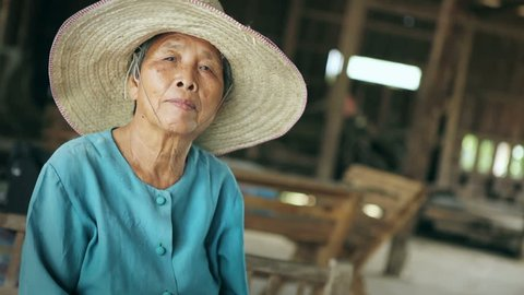 Senior Asian women at home, Lifestyle of Asian old women concept