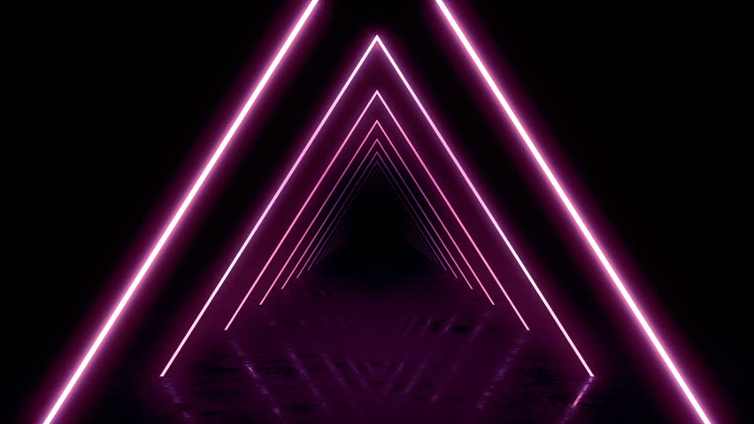 Abstract background with animation of flight in abstract futuristic tunnel with neon light. Animation of seamless loop.  | Shutterstock HD Video #1025051228