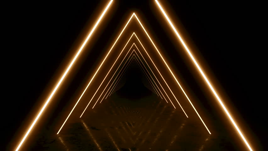 Abstract background with animation of flight in abstract futuristic tunnel with neon light. Animation of seamless loop.  #1025051438