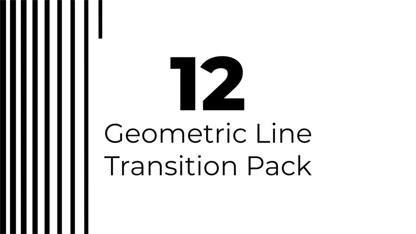 12 Geometric Lines Alpha Transition Wipes Masks | Shutterstock HD Video #1025349998