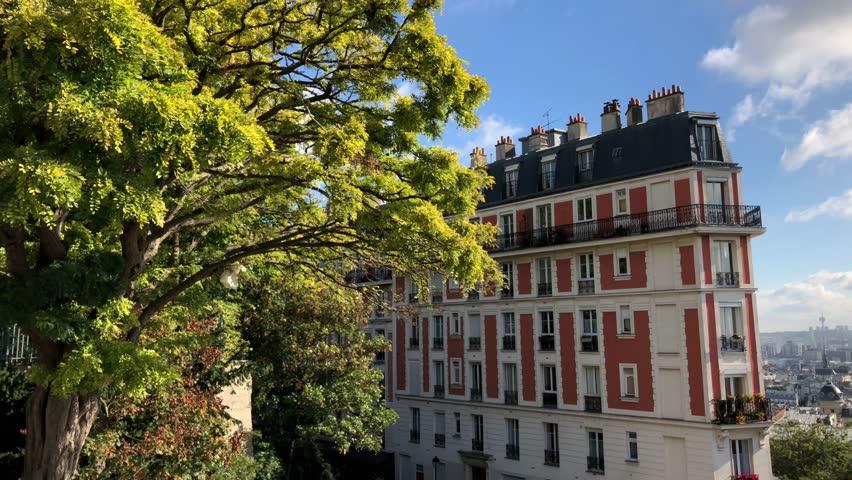 SINKING HOUSE Montmatre, Paris France    Shutterstock HD Video #1025723318