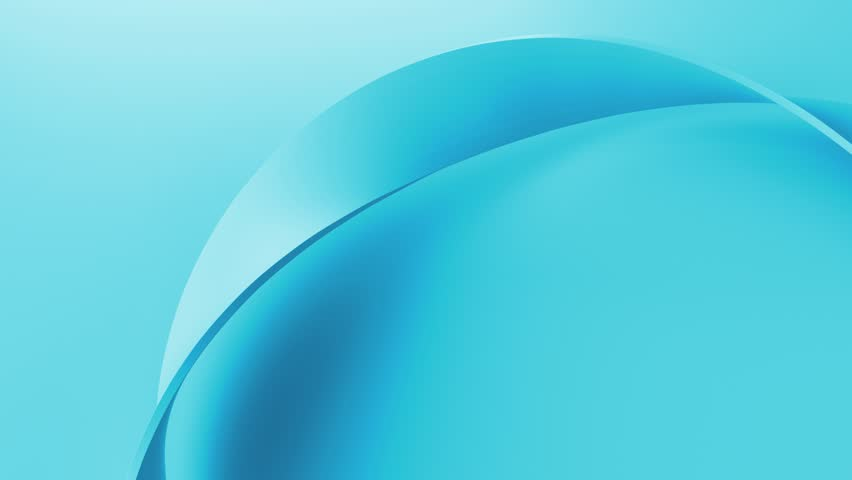 Blue simple and elegant 3d render background with twisted shape. Perfect for presentation background. Loopable animation.  | Shutterstock HD Video #1025726618