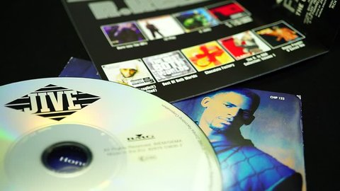 Rome, Italy - March 13, 2019: Detail of CDs and artwork of R.KELLY .an American singer, songwriter accused of ten counts of sexual abuse from 1998 to 2010