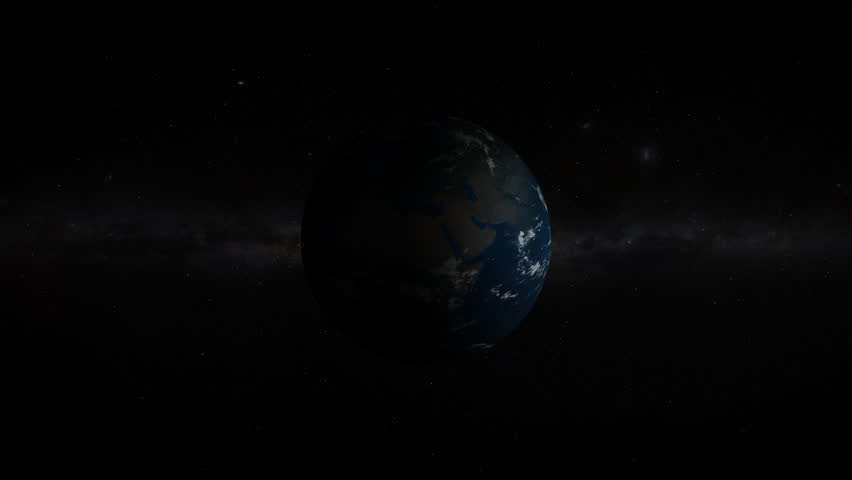 3D Earth revealing in space with lens flare effects. Realistic and very high quality. | Shutterstock HD Video #1025816378
